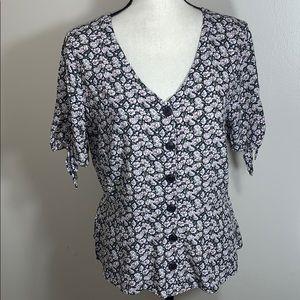 LOFT flowered blouse.        Sz 6